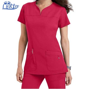 Medical Scrub Polyester Rayon Spandex Material Fashionable Designs New Style Nurse Uniform Wholesale