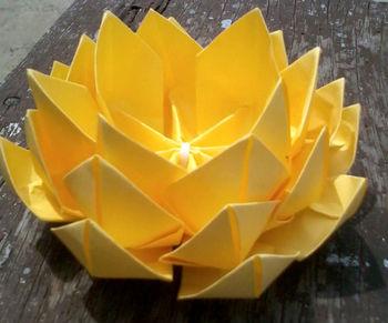 Yellow origami lotus buy origami flowers product on alibaba yellow origami lotus mightylinksfo