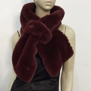 Collar christmas dhaka real rabbit fur shawl india