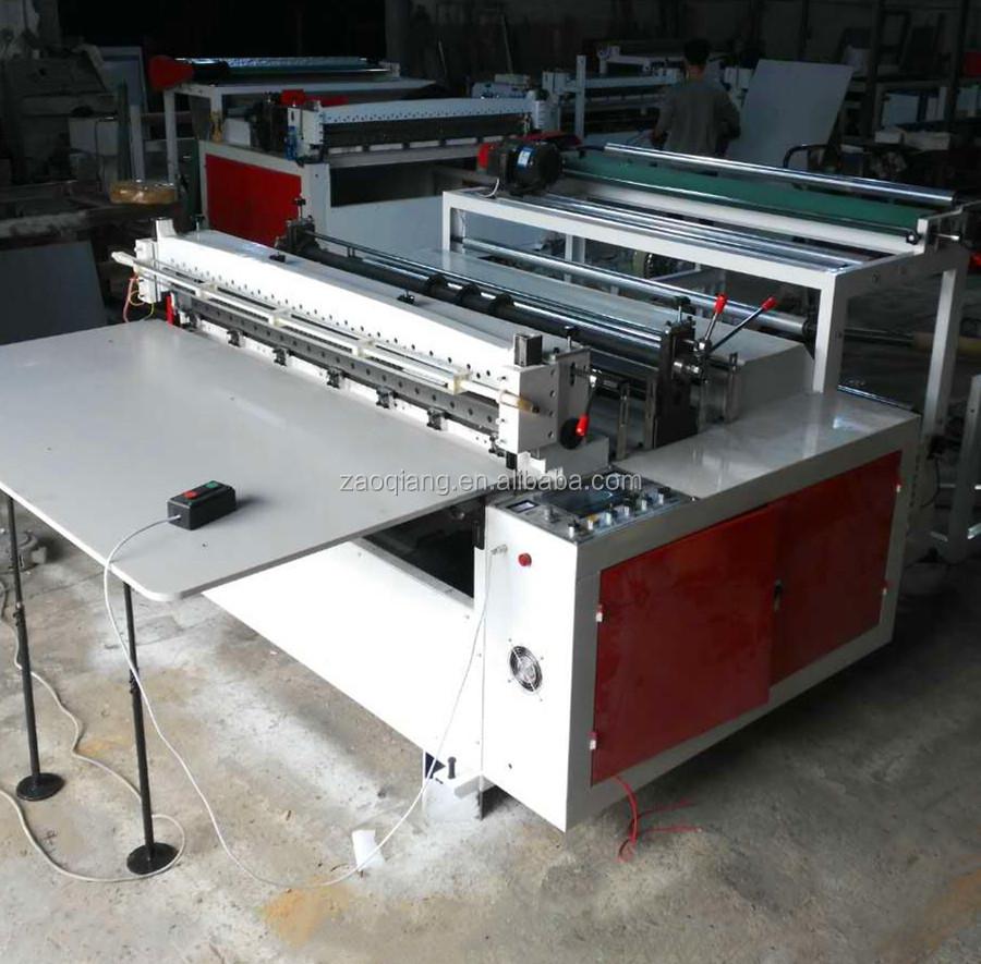 Di alta qualità singolo rotolo composito foglio di carta croce macchina di taglio e macchina di taglio tessuto