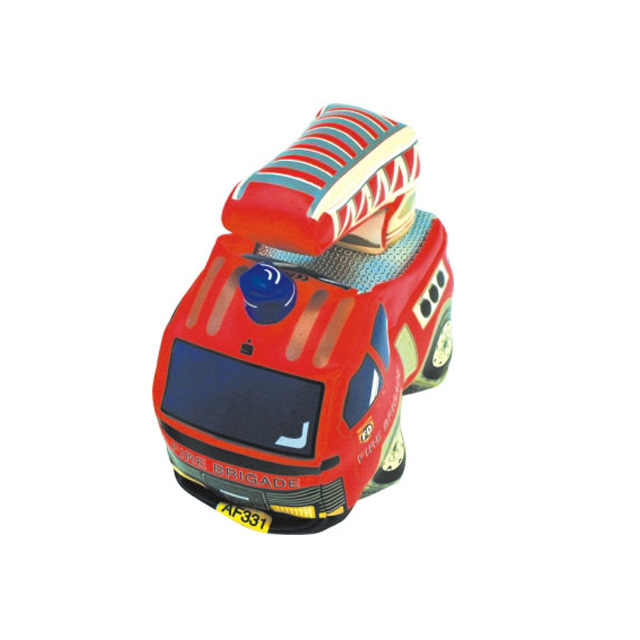 Phthalate free Vinyl stuffed soft fire truck car toy/baby soft toy car