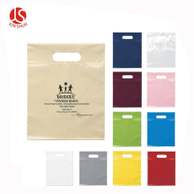 Popular Cloth Bags Low Density Plastic Merchandise Gift Die Cut Bags