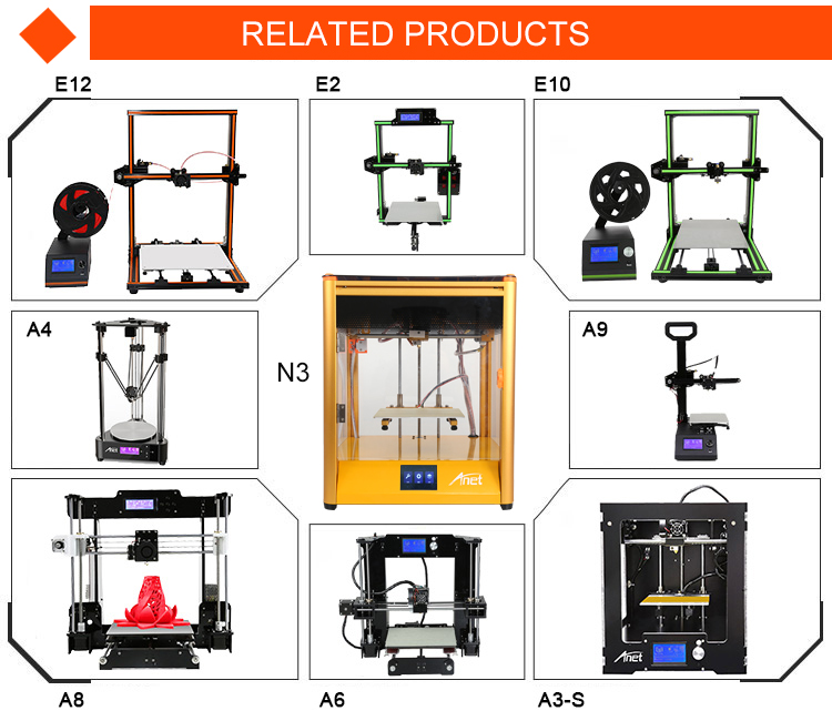 Professional most practical high accuracy 3d printer with mega integrated mother board