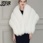 New Design Fashion Wedding Bride Fur Cape Winter Warm Women Faux Fur Shawl