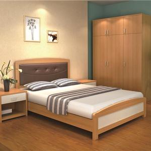 Modern Teak Wood Double Bed Designs Solid Wood Bed Furniture