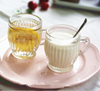 Machine Made Glass milk mug/Clear mini glass pudding cup.
