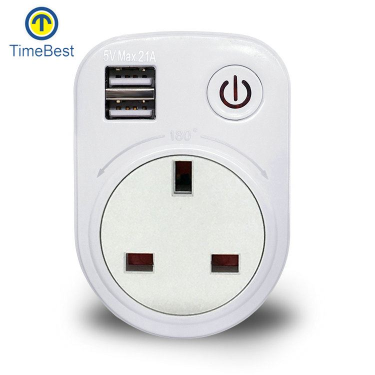New Design Factory Price Single wall socket 2 usb india plug
