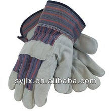 Split Leather Palm Gloves with Safety Cuff