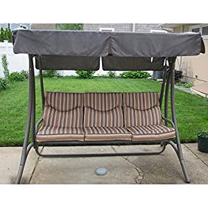 Get Quotations · Flat Roof 3 Person Swing Replacement Canopy