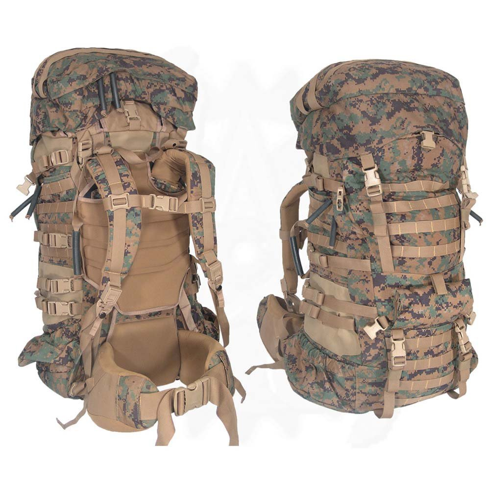 81a35cb170b Get Quotations · Military Outdoor Clothing Never Issued U.S. G.I. USMC  MARPAT Large ILBE Complete Field Pack with Lid and