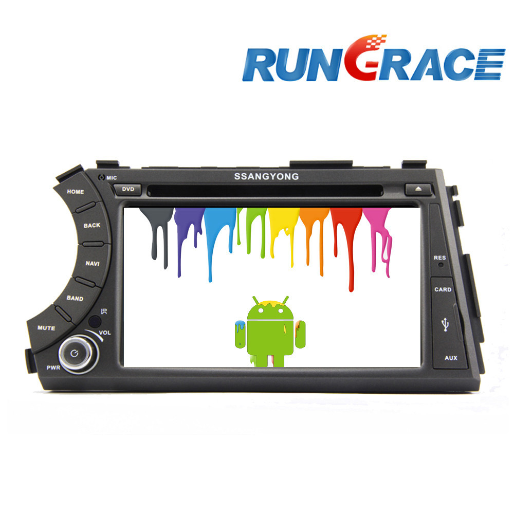 ssangyong actyon rexton android 4.2.2 dvd car player double din 3g wifi