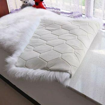 2017/2018 White Plush Fur Carpet On Bedroom Shop Window Background Wool  Blanket Of Faux