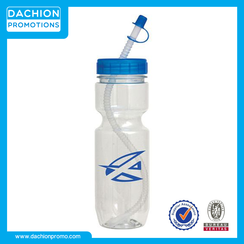 Logo printed Translucent Bottle with Flex Whistle Straw (22 Oz.)