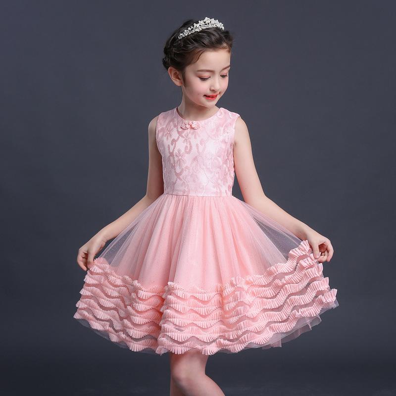Mode Anak Remaja Gadis Set Musim Panas Pakaian Pesta Gadis Putri