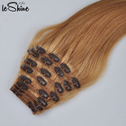 Human Hair Clip In Extensions Can Make YourHairLabels And Packaging Top Sale High Quality