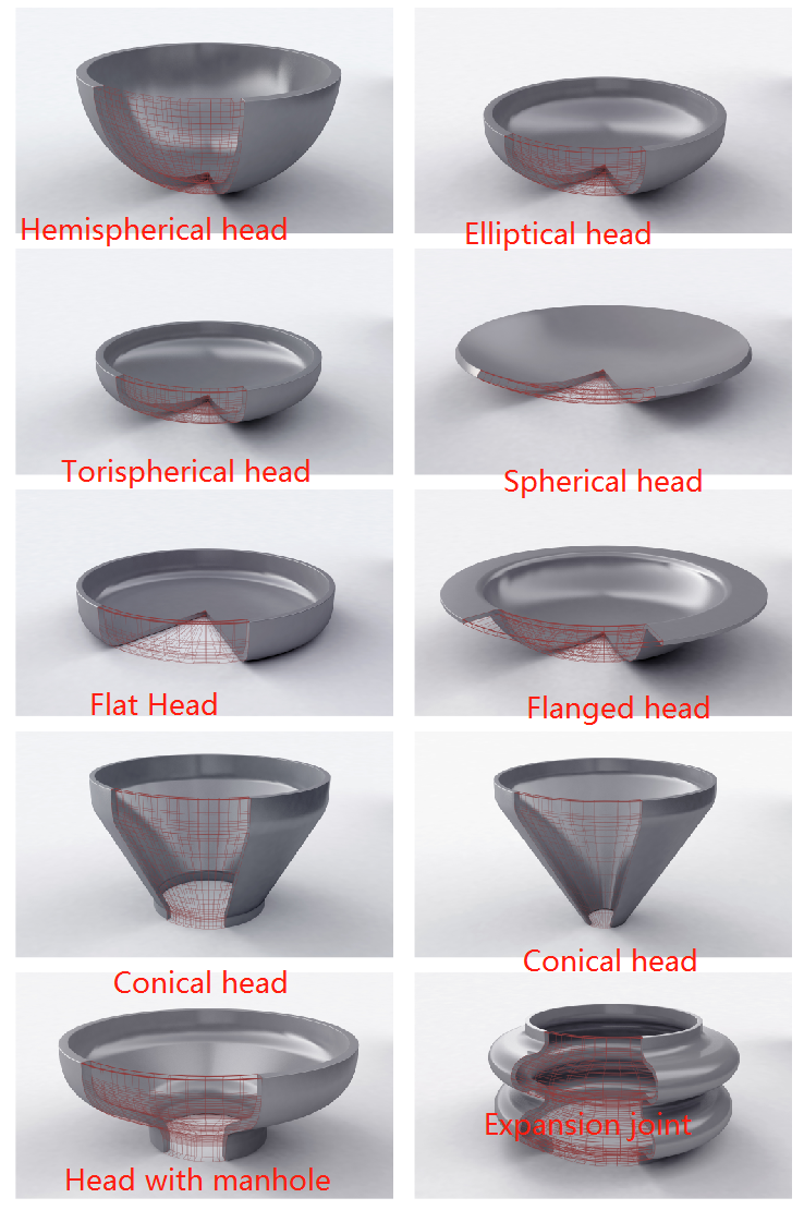 2018 high quality stainless steel pressure vessel cover elliptical head torispherical head dished end cap