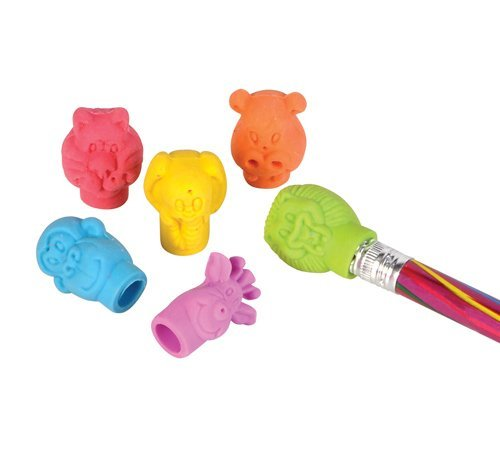 144 (1 Gross) ~ Neon Zoo Animal Pencil Top Erasers ~ New ~ Party Favors, School Supplies, Safari Jungle Animal Erasers