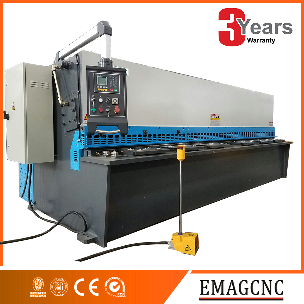 IN STOCK hydraulic cnc metal sheet shearing machine engineer service