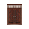 Security double leaf entry modern front door