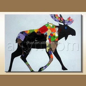 Newest Milu Deer Pop Art Painting Colorful Animal Modern Pop Art Painting Buy Modern Pop Art Painting Modern Pop Art Painting Modern Pop Art