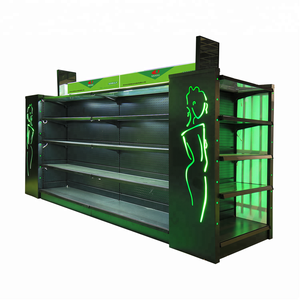 hot sale beauty customized cosmetics glass display racks display shelf with light box