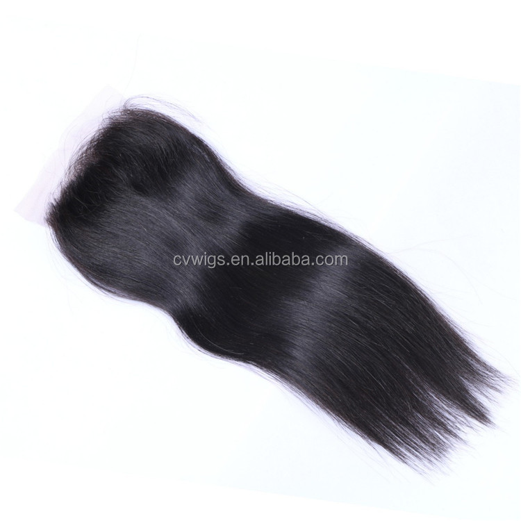 Hot selling raw virgin brazilian lace closure bleached knots with baby hair