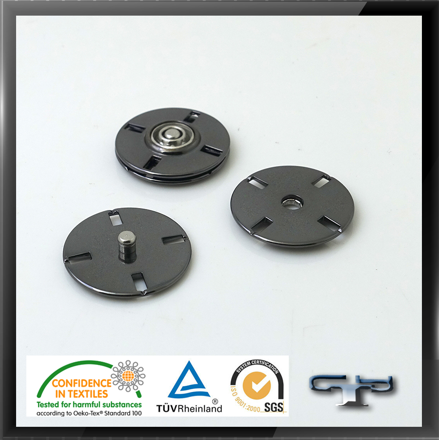 Magnetic jackets fasteners coats metal snap button