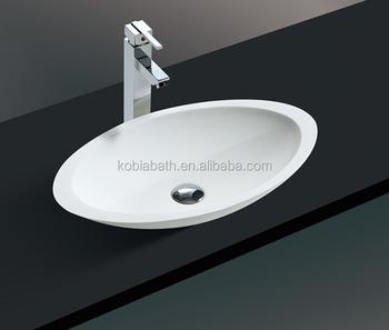 K S1001 Permukaan Padat Di Atas Meja Wastafel Kamar Mandi Resin Batu Countertop Sink Buy Countertop Sink Resin Batu Countertop Sink Di Atas Couter Sink Product On Alibaba Com