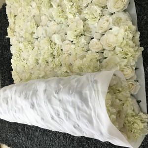 Rolling White Flower Wall for Wedding Stage Decoration