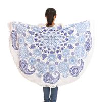 factory supply customized printing beach throw mandala towel cotton
