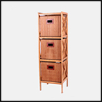 2019 wholesale portable clothes bedroom home bamboo wooden storage cabinet 3 drawers design