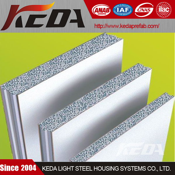 Best quality building material make eps cement wall sandwich panel for prefab house