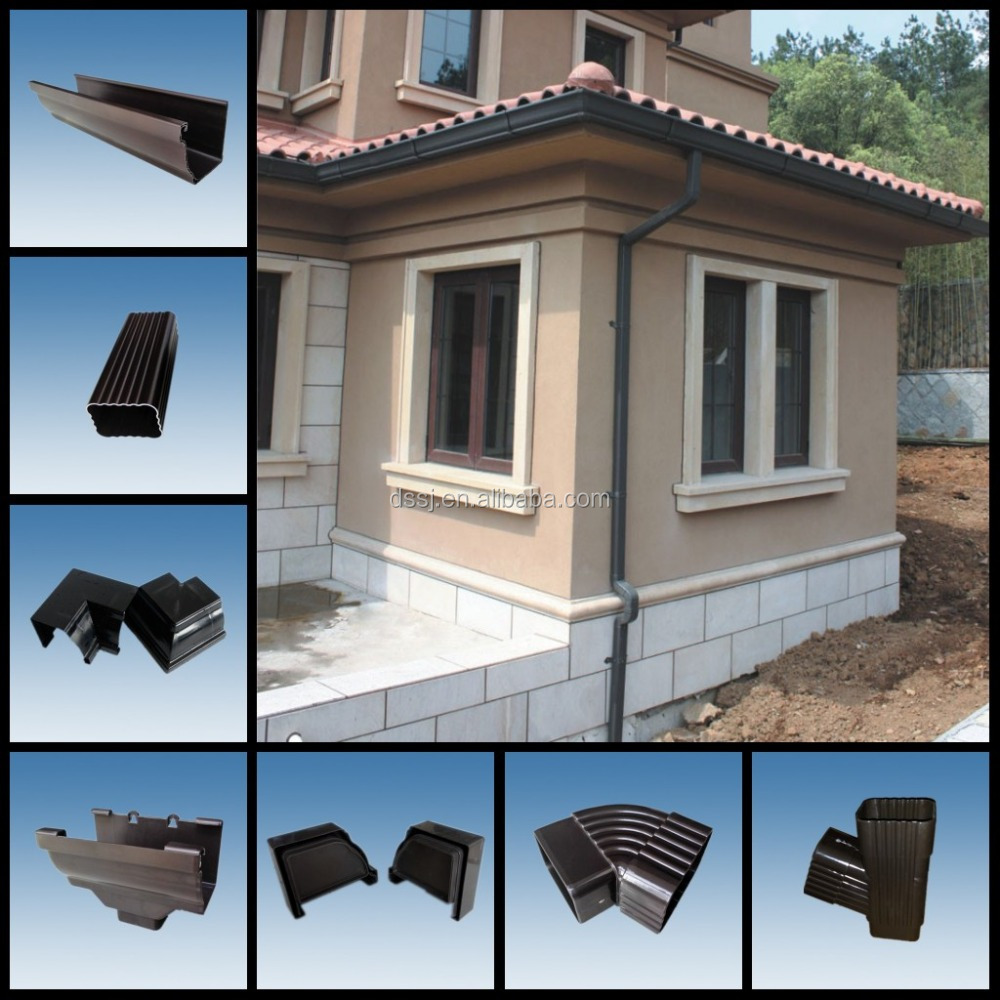 Popular Russian White Pvc 5.2 Inch Rain Gutters Downspouts Price - on mobile home gutter parts, mobile home gutter covers, mobile home gutter installation, mobile home roof gutter, mobile home gutter guards,