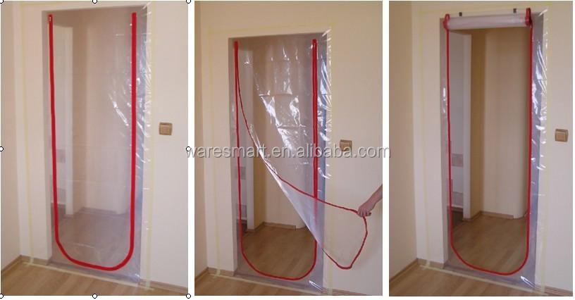 Zipper Door Door Way Plastic Dust Barrier Buy Door Way