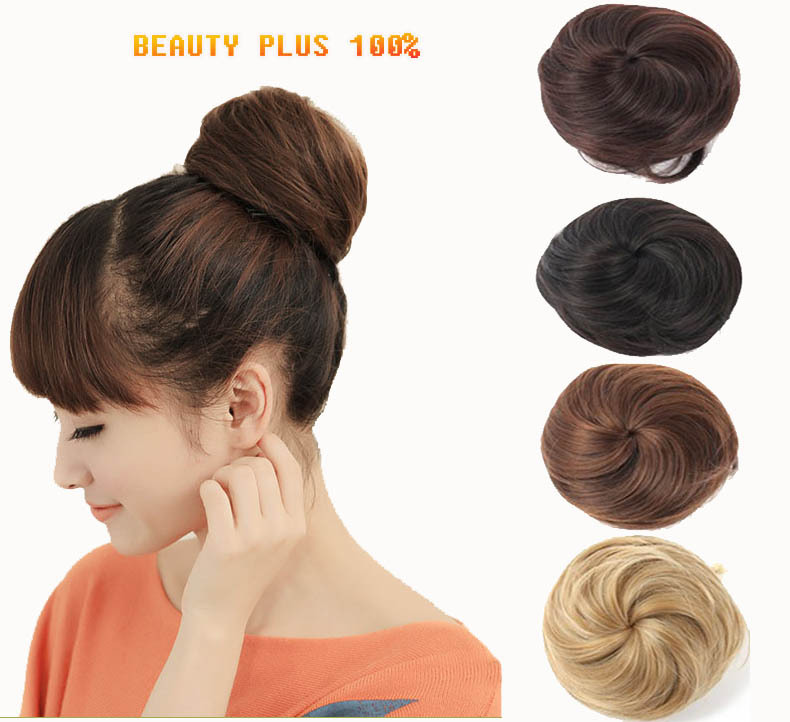 Buy Cute Synthetic Hair Scrunchie Chignon Hairpiece High Quality
