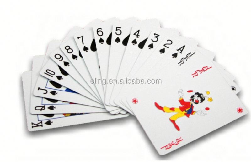 Plastic Poker Card scan playing cards