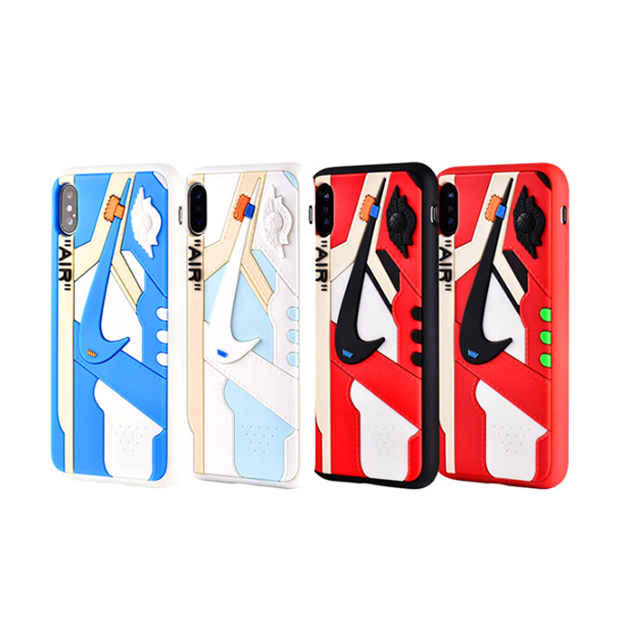 Fashion Silicone 3D Air Jordan Sports Shoes Phone Cases AJ11 Off White NBA Basketball Sneaker Cover for iPhone11/11pro/11pro max