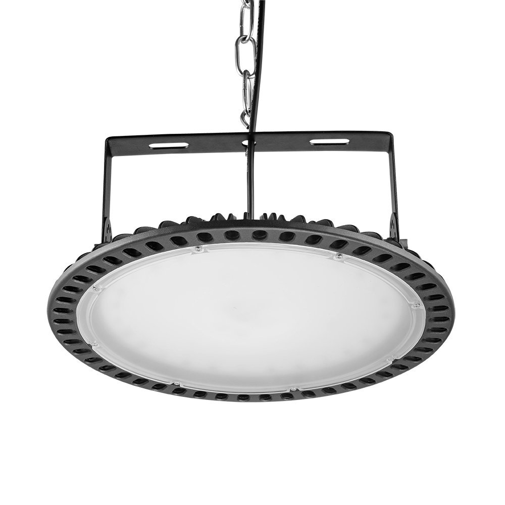 UFO LED High Bay Lighting Super Bright Commercial Lights,Coolkun 200W IP65 14000LM,Ultra Thin and Efficient for Factory Workshop Warehouse Exhibition Hall Stadium Mine Market