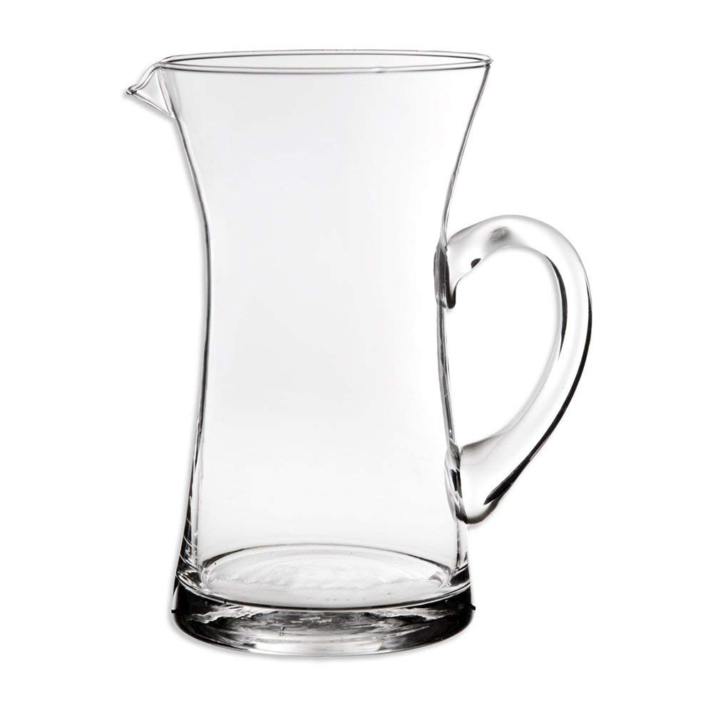 Home Essentials & Beyond Elegant Decorative Glass Clear Pitcher With Handle & Pour Lip For Water, Iced Tea, Lemonade For Home Every Day Use And Parties Bbq Special Events