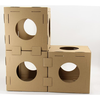 2018 Trending Products Diy Flat Packing Selected Cube Cat Play House Buy Cat Play House Indoor Cat House Cardboard Cat House Product On Alibaba Com