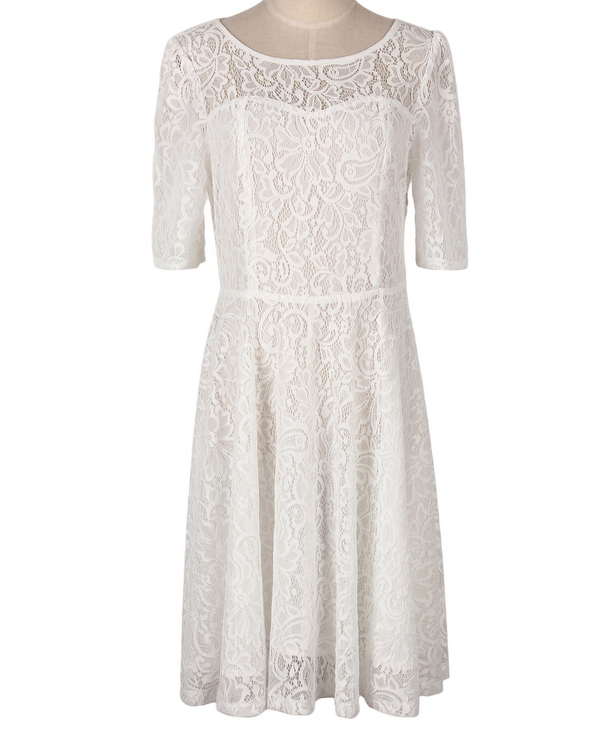 Chinese 2019 Small Minimum Orders Custom Label Made White <strong>Lace</strong> Fabric dress Trendy <strong>Women</strong> <strong>Clothing</strong>