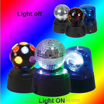360 rotating small locker mini disco ball led disco lights mirror