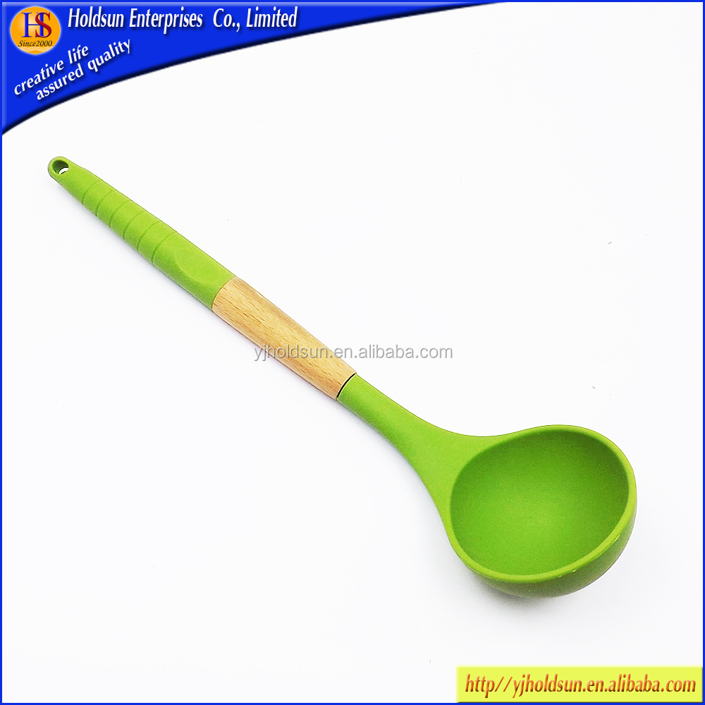 Food-grade silicone sauce soup serving kitchen ladle