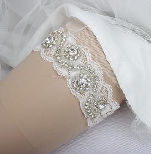 dfbdb256671 Rhinestone Wedding Garter