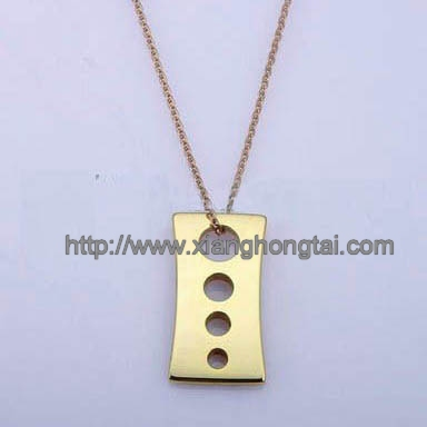 IP gold tungsten dog tag pendant necklace wholesale