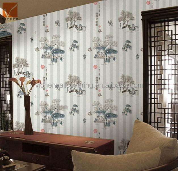 Chino 3d diseño decorativo papel tapiz para cocina habitaciones ...