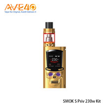 Smoktech Newest Product E-cigarette SMOK S-PRIV 230W Starter Kit Powered By Dual 18650 Batteries