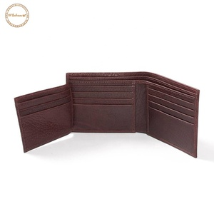 Custom minimalist mens business wallet manufacturer personalized genuine leather wallets