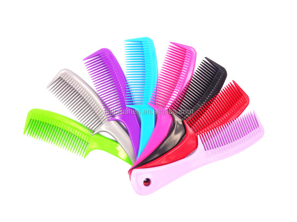 professional Colourful comb with long handle