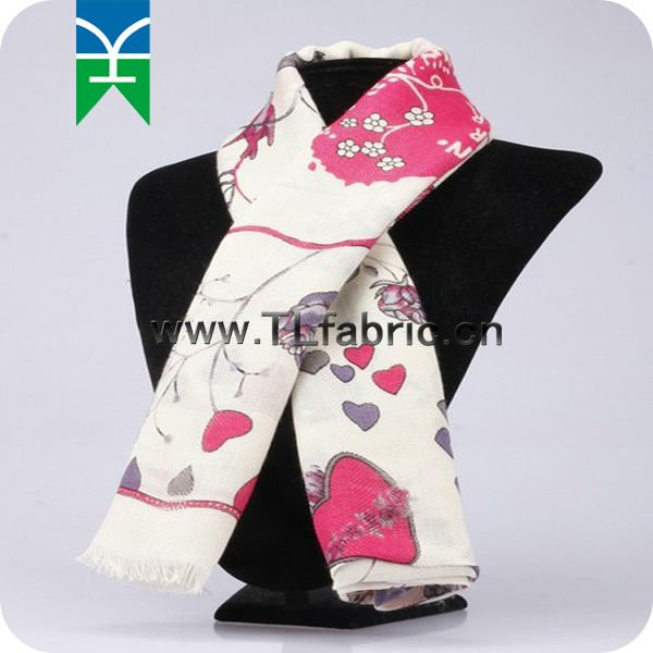 Ladies' printed cotton scarf
